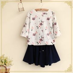 Fairyland - Floral Print Short-Sleeve T-Shirt