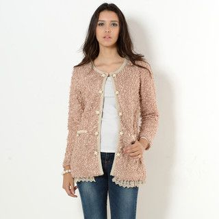 YesStyle Z - Bouclé Collarless Jacket