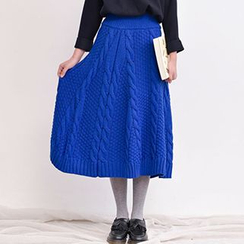 Yammi - Cable Knit Midi Skirt