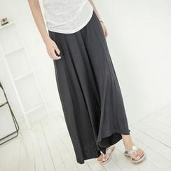 JOAMOM - Band-Waist Long Skirt