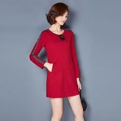 AiSun - Long-Sleeve A-line Dress