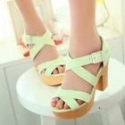 Smoothie - Cross-Strap High-Heel Sandals