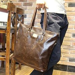 Brickhouse - Faux Leather Tote