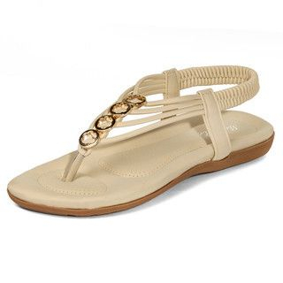 yeswalker - Hoop-Accent Thong Sandals