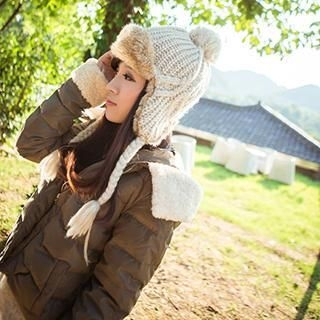 Thantrue - Fleece-Lined Aviator Hat