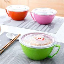 Home Simply - 帶手柄多用帶蓋密封不銹鋼泡面碗