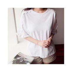 MASoeur - Frill-Sleeve Lace-Trim Top