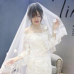 Nymphie - 贴花新娘头纱