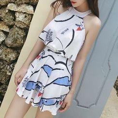 Sirene - Printed Ruffle Swimsuit