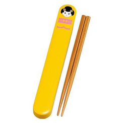 Hakoya - Hakoya 18.0 Chopsticks Box Set Maiko Yellow