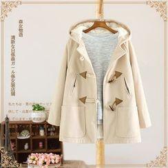 Vateddy - Hooded Toggle Coat