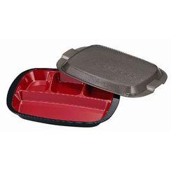 Hakoya - Hakoya Mens Uchiben Lunch Box Black (Deep Red Inside)