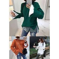 Miamasvin - Slit-Detail Cotton Sweatshirt
