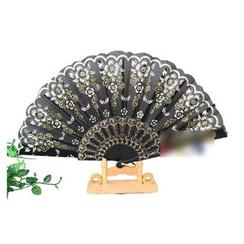 Peony House - Glitter Hand Fan