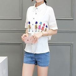 AGA - Print Short-Sleeve Shirt