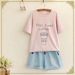布衣天使 - 字母短袖T恤