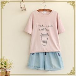 Fairyland - Letter Short-Sleeve T-shirt