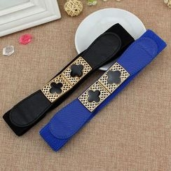 Coco Rush - Four Leaf Clover Buckle Elastic Belt