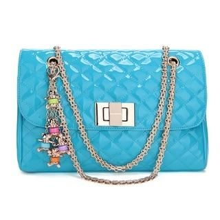 19th Street - Charm-Accent Quilted Shoulder Bag