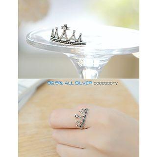 soo n soo - Crown Silver Ring
