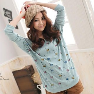 Long Sleeve Giraffe-Print T-Shirt