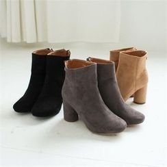 GLAM12 - Faux-Suede Ankle Boots