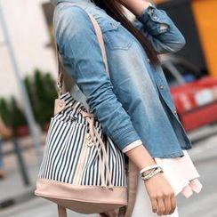 SO Central - Stripe Bucket Bag