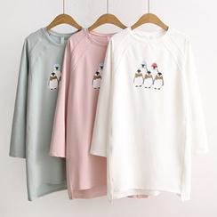 Suzette - Penguin Print T-Shirt Tunic
