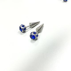 Trend Cool - Titanium Steel Rhinestone Single Earring