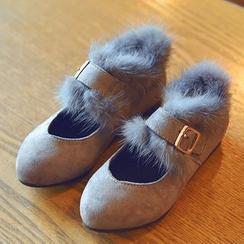 BOOM Kids - 童装毛毛带平跟鞋