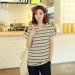 CLICK - Striped Short-Sleeve T-Shirt