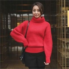 ode' - Turtle-Neck Rib-Knit Sweater