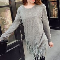 anzoveve - Fringed Long Sweater