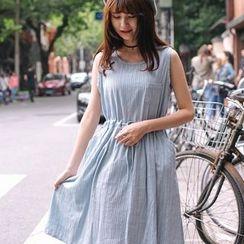 微米家 - 无袖抽绳腰连衣裙