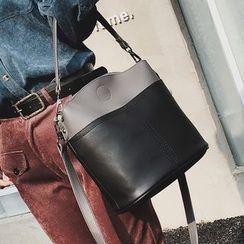 优尚良品 - 撞色水桶包
