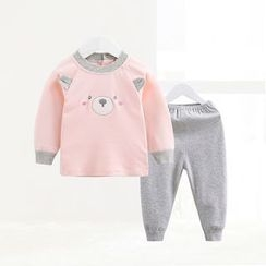 ciciibear - Kids Set: Bear Long-Sleeve Top + Pants