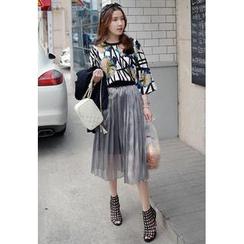 Miamasvin - Pleated Midi Skirt