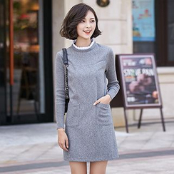 Romantica - Wool Blend Long-Sleeve Dress