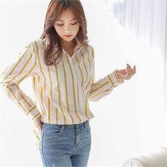 Styleberry - Long-Sleeve Stripe Shirt