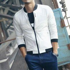 Denimic - Plain Zip Jacket