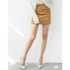 GUMZZI - Metal-Studded Miniskirt