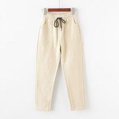 moripick - Drawstring Waist Pants