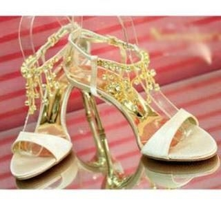 77Queen - Jeweled High-Heel Sandals