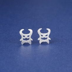 Zundiao - Sterling Silver Perforated Devil Studs