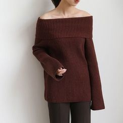 ELLY - Oversized Off-Shoulder Sweater