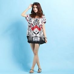 Hotprint - Print Short-Sleeve Dress