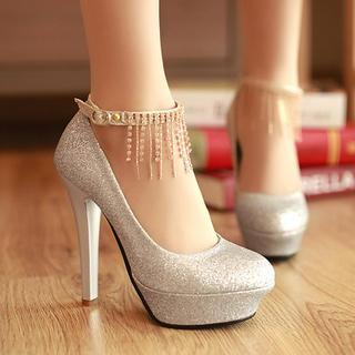77Queen - Glitter Pumps