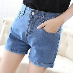 Isadora - High Waist Denim Shorts
