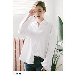 10WORLD - Bell-Sleeve Cotton Shirt