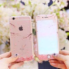 Sea Girl - Sakura Printed iPhone 6 / 6S / 6 Plus / 6S Plus Case With Protective Film